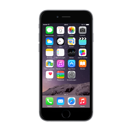 apple iphone 6 16gb spacegrau simlockfrei ohne vertrag. Black Bedroom Furniture Sets. Home Design Ideas