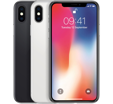 apple iphone x 64gb 256gb spacegrau silber wie neu. Black Bedroom Furniture Sets. Home Design Ideas