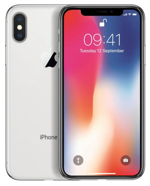 Apple iPhone X 256GB - Silber